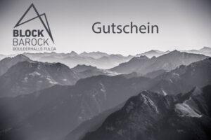 Gutschein Block Barock